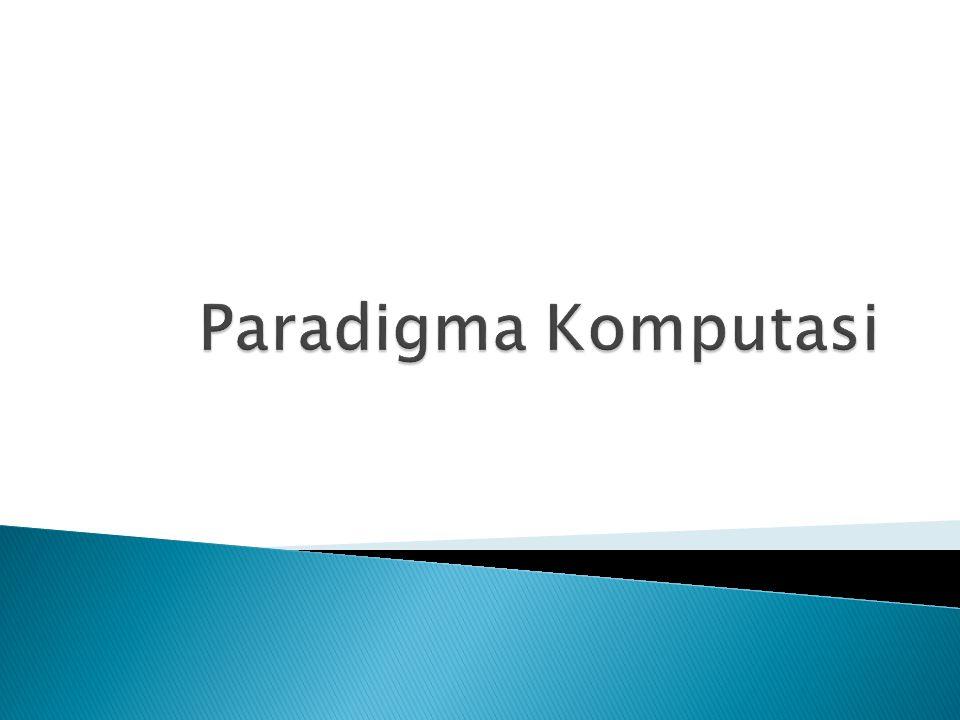 Paradigma Komputasi