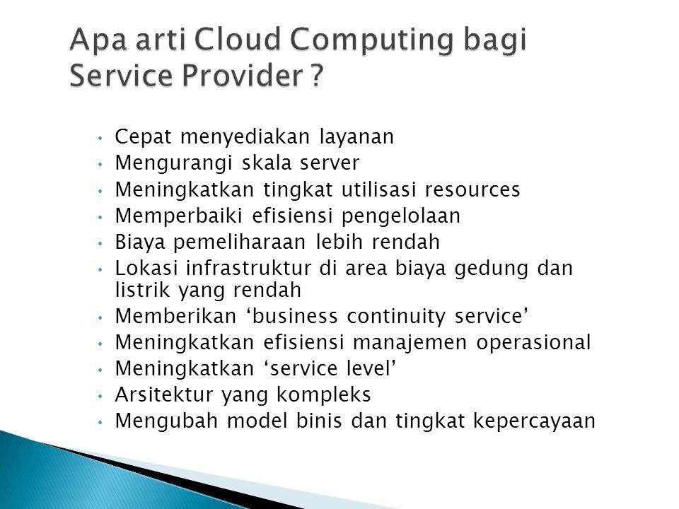 Apa arti Cloud Computing bagi Service Provider