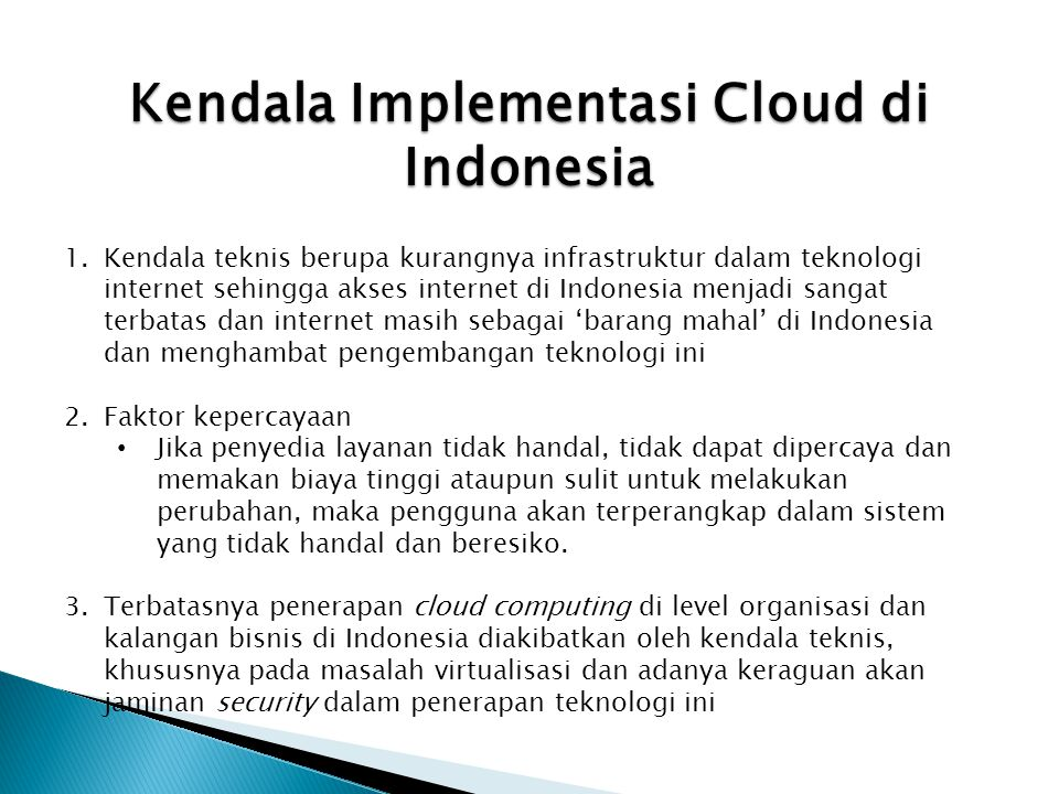 Kendala Implementasi Cloud di Indonesia