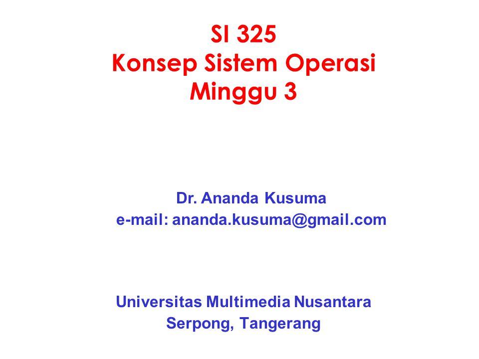 SI 325 Konsep Sistem Operasi Minggu 3