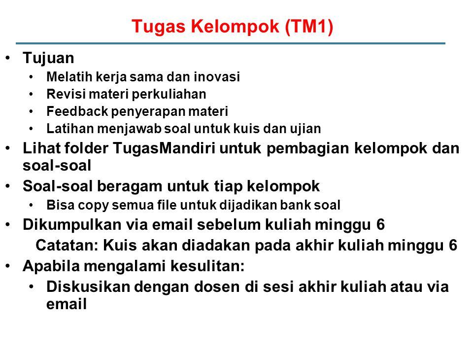Tugas Kelompok (TM1) Tujuan