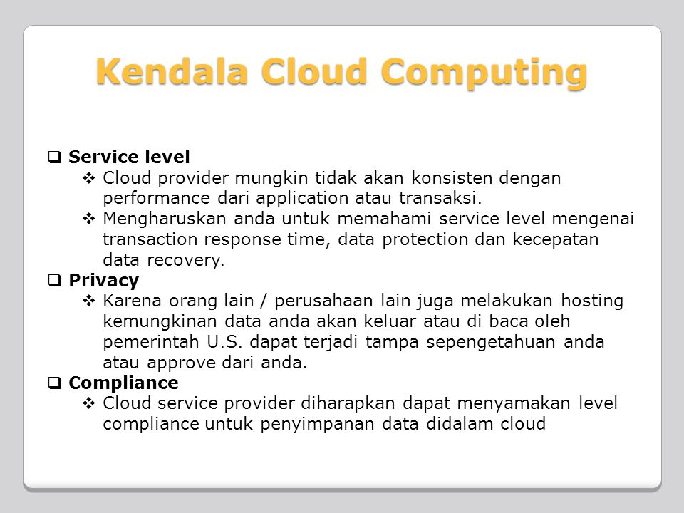 Kendala Cloud Computing