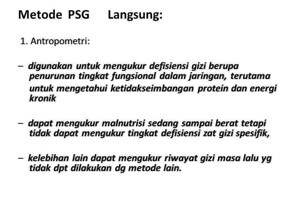 Metode PSG Langsung: 1. Antropometri: