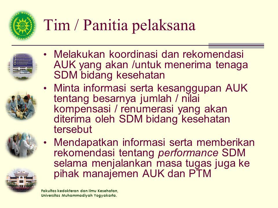 Tim / Panitia pelaksana