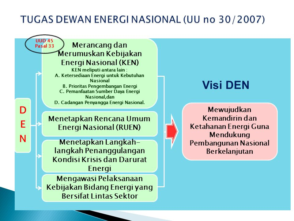 TUGAS DEWAN ENERGI NASIONAL (UU no 30/2007)