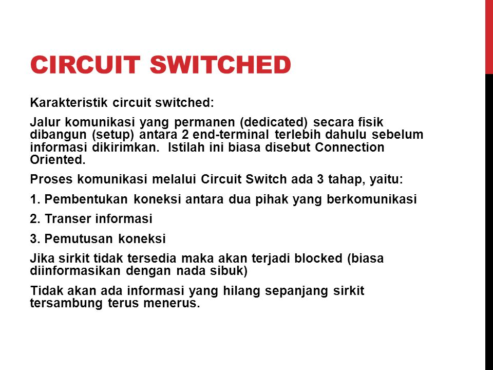 circuit switched