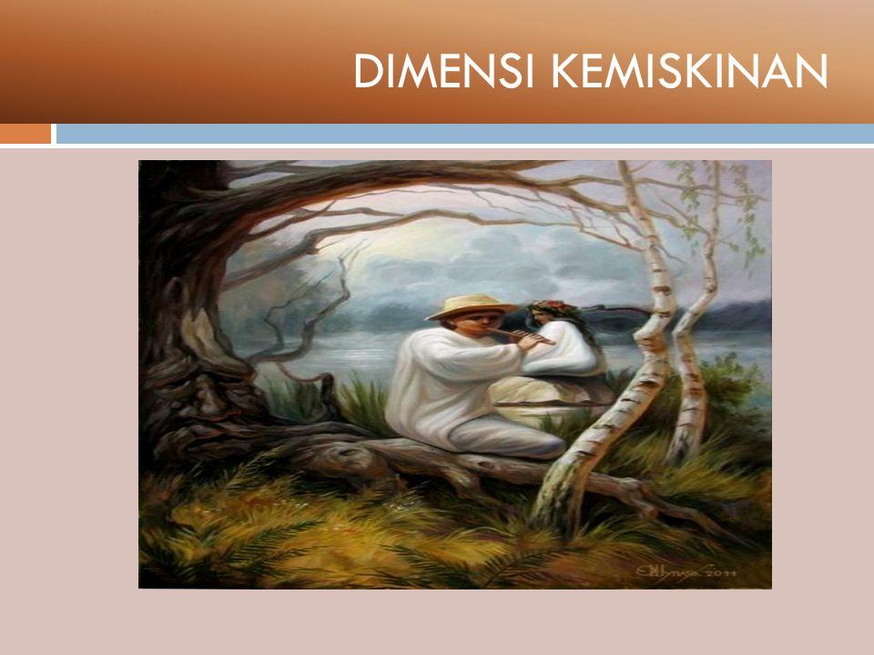 DIMENSI KEMISKINAN