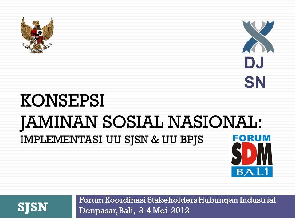 KONSEPSI JAMINAN SOSIAL NASIONAL: implementasi uu sjsn & uu bpjs
