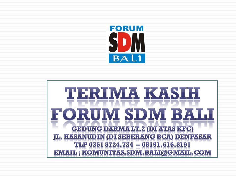 Terima Kasih Forum SDM Bali