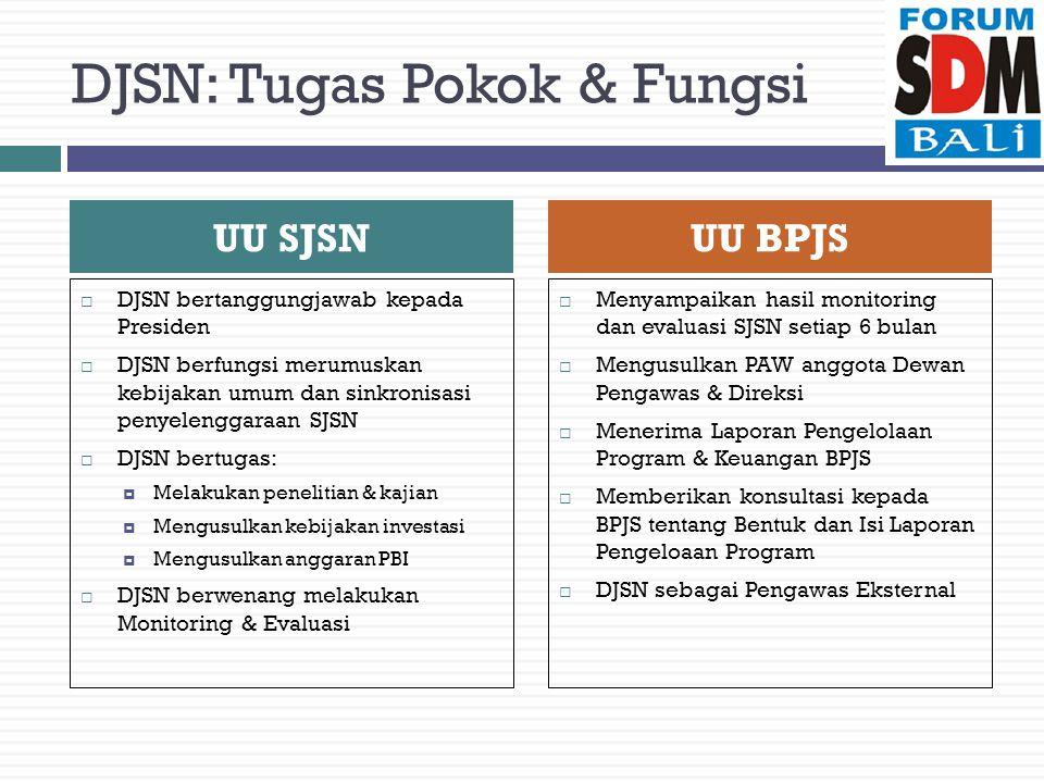 DJSN: Tugas Pokok & Fungsi