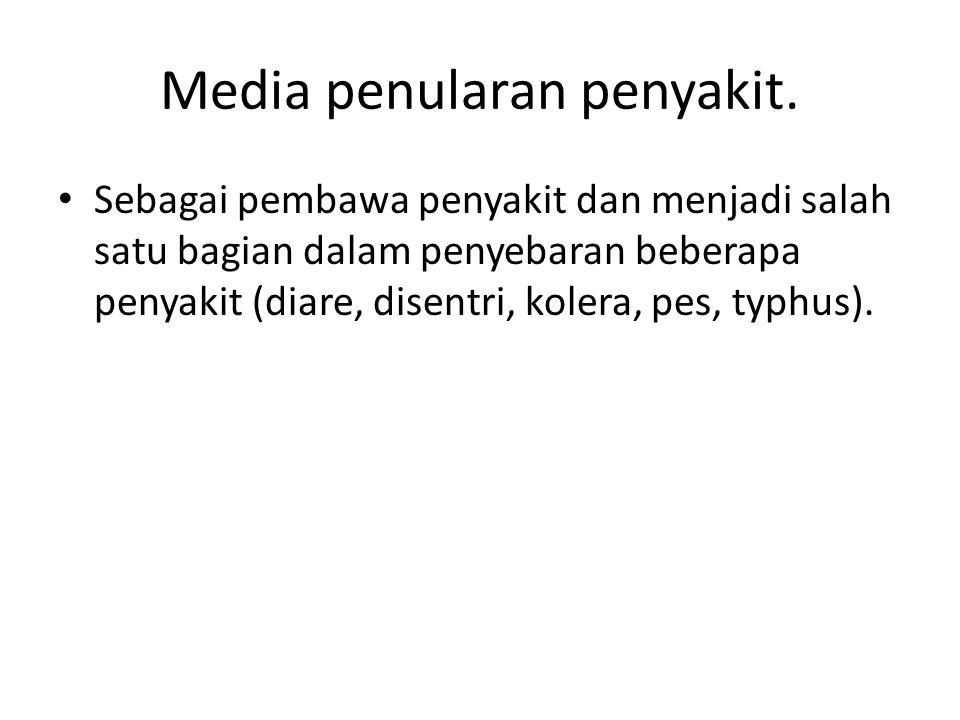 Media penularan penyakit.