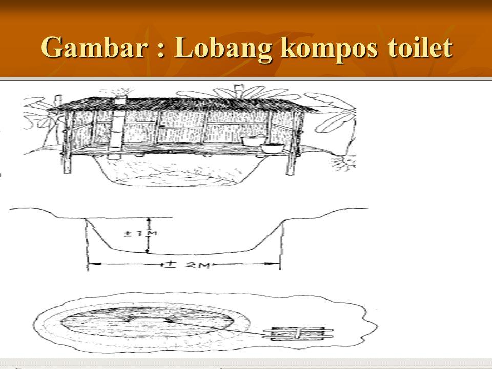 Gambar : Lobang kompos toilet