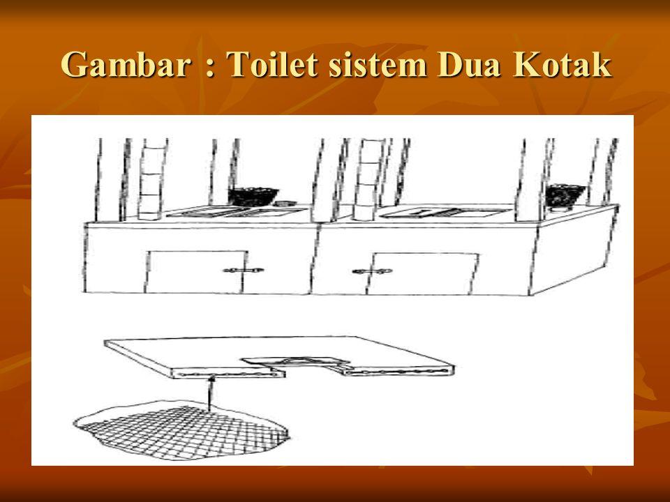 Gambar : Toilet sistem Dua Kotak