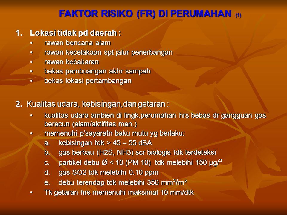FAKTOR RISIKO (FR) DI PERUMAHAN (1)