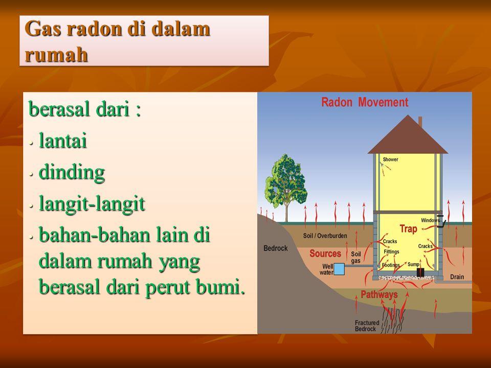 Gas radon di dalam rumah