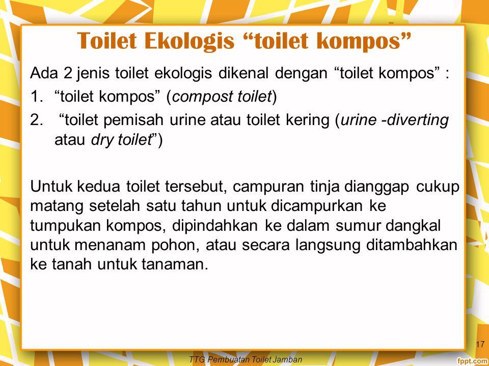 Toilet Ekologis toilet kompos