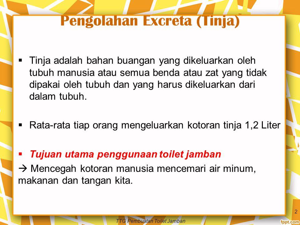 Pengolahan Excreta (Tinja)