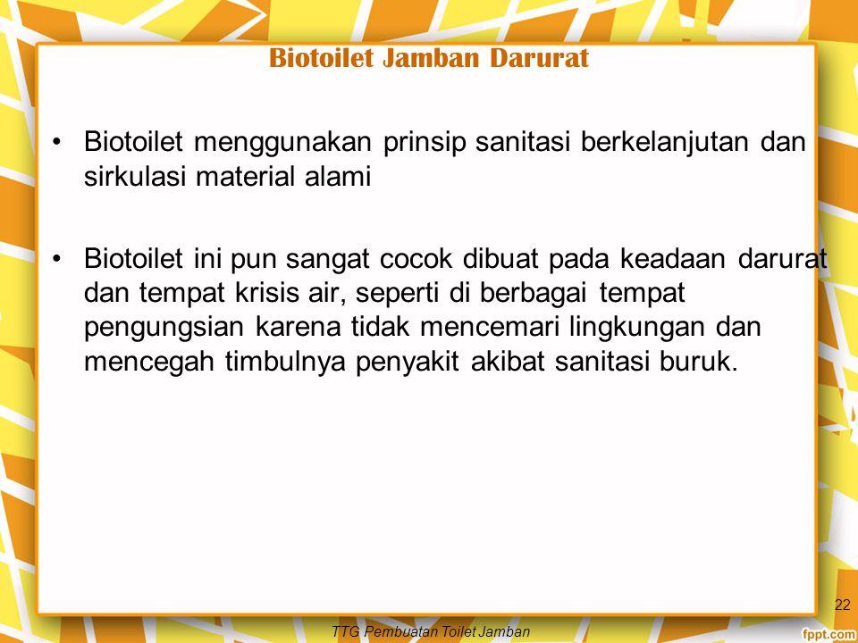 Biotoilet Jamban Darurat
