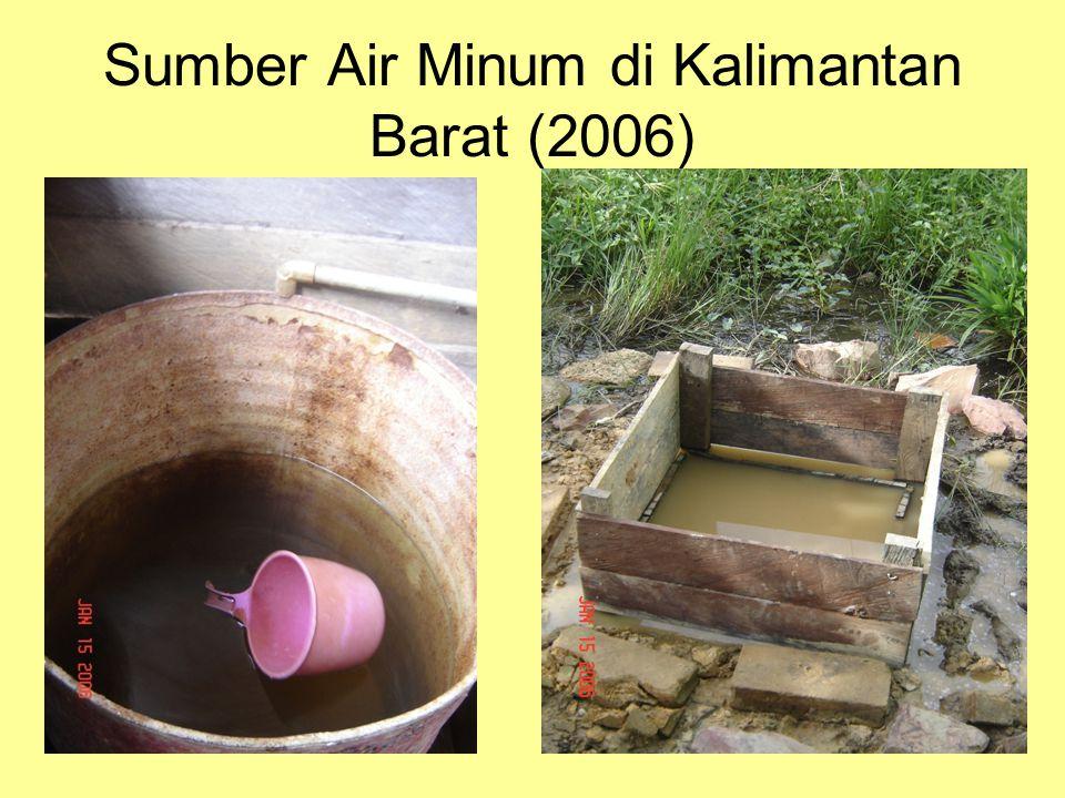 Sumber Air Minum di Kalimantan Barat (2006)