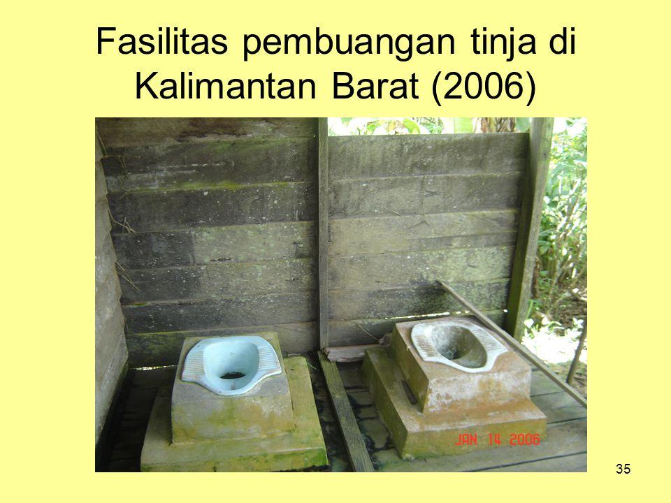 Fasilitas pembuangan tinja di Kalimantan Barat (2006)