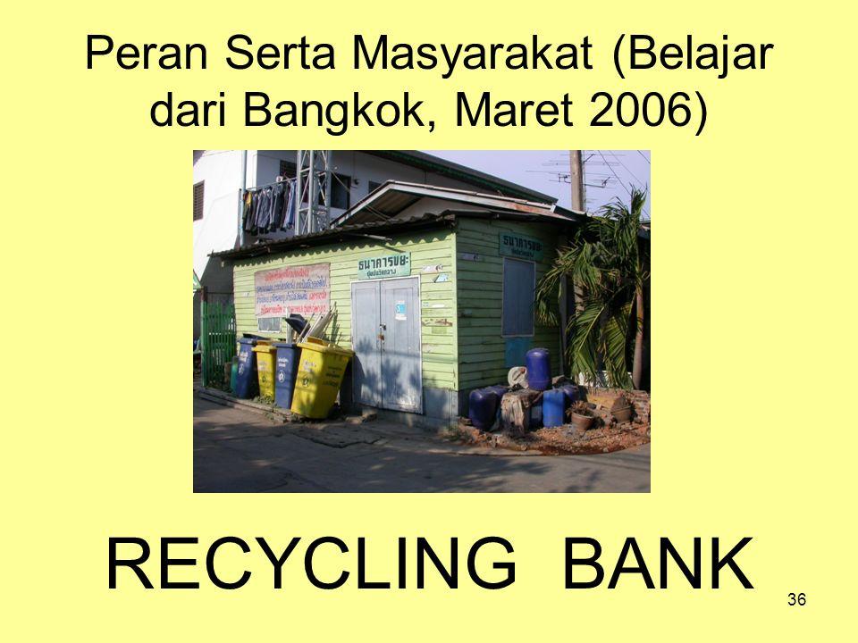Peran Serta Masyarakat (Belajar dari Bangkok, Maret 2006)