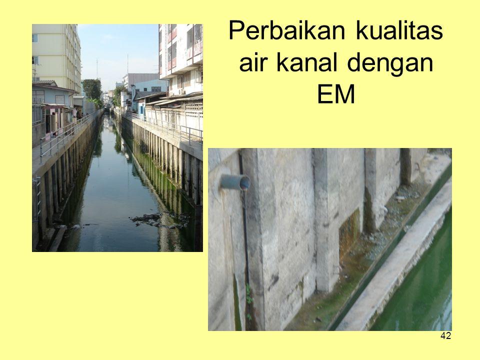 Perbaikan kualitas air kanal dengan EM