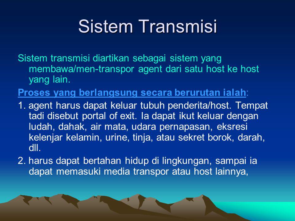 Sistem Transmisi Sistem transmisi diartikan sebagai sistem yang membawa/men-transpor agent dari satu host ke host yang lain.