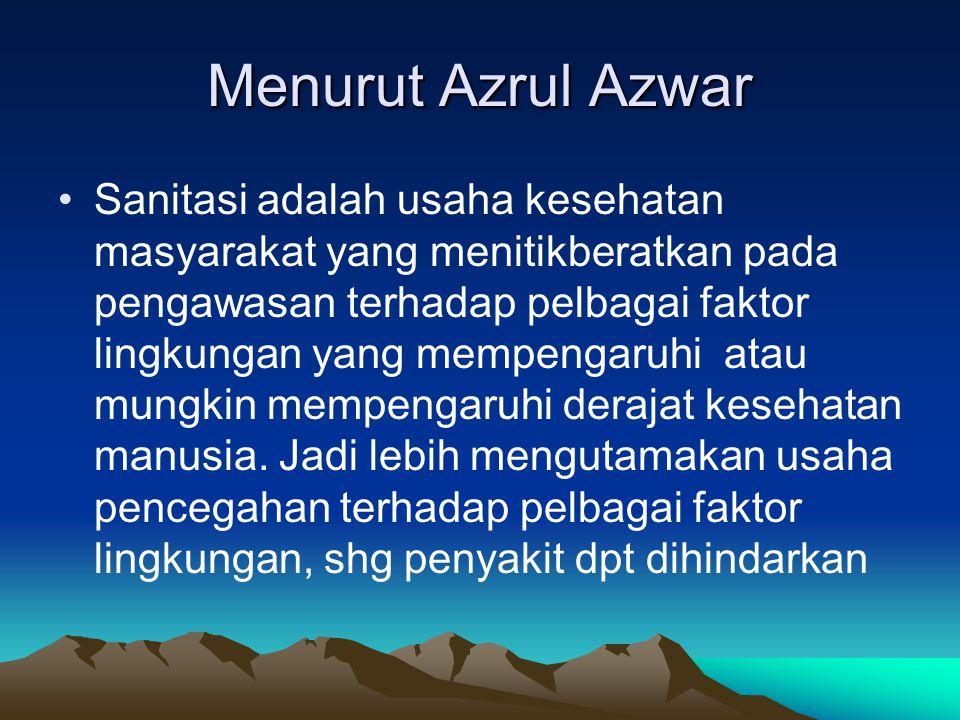 Menurut Azrul Azwar