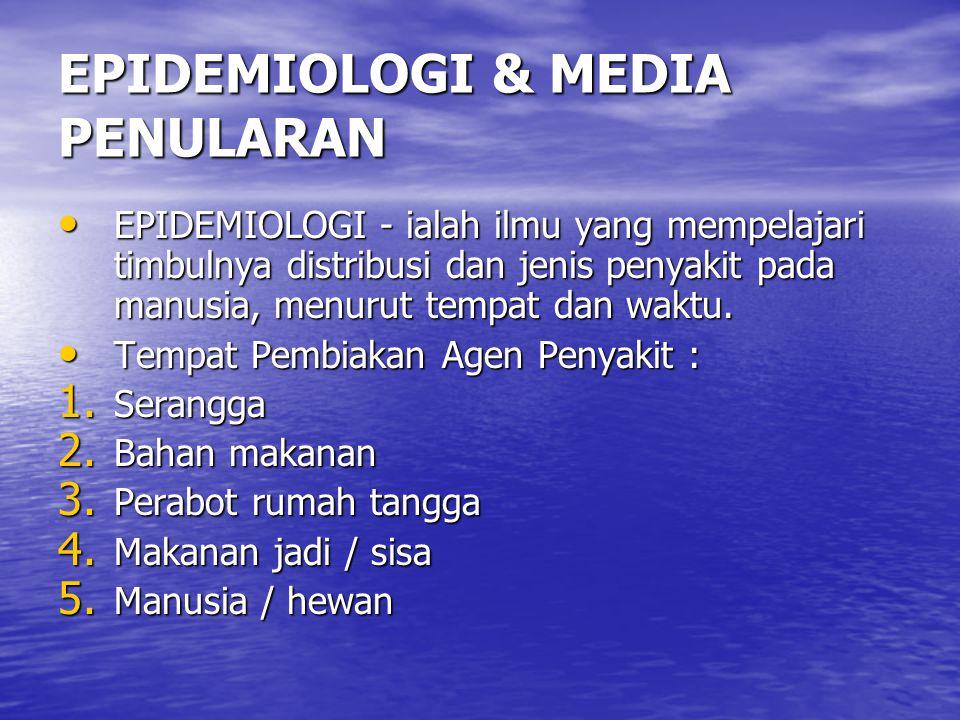 EPIDEMIOLOGI & MEDIA PENULARAN