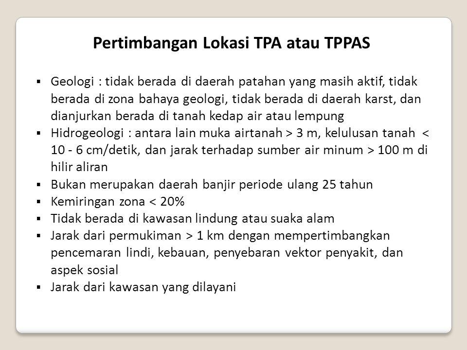 Pertimbangan Lokasi TPA atau TPPAS