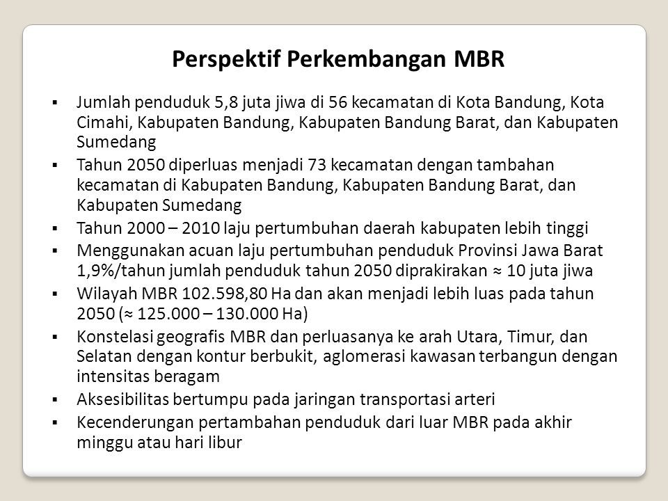 Perspektif Perkembangan MBR