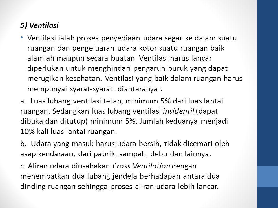 5) Ventilasi