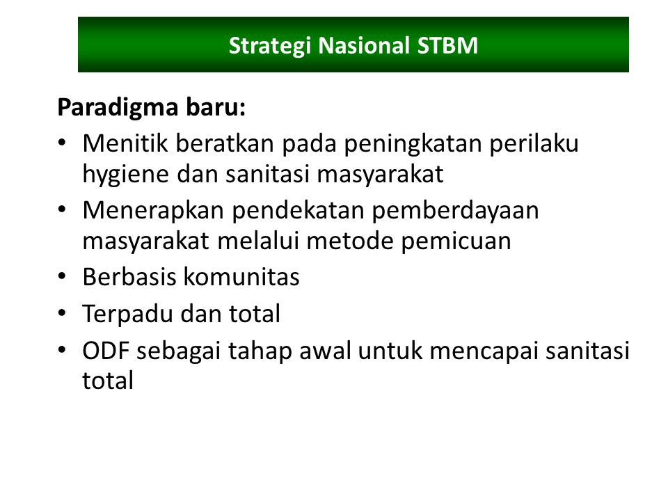 Strategi Nasional STBM