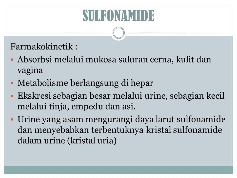 SULFONAMIDE Farmakokinetik :