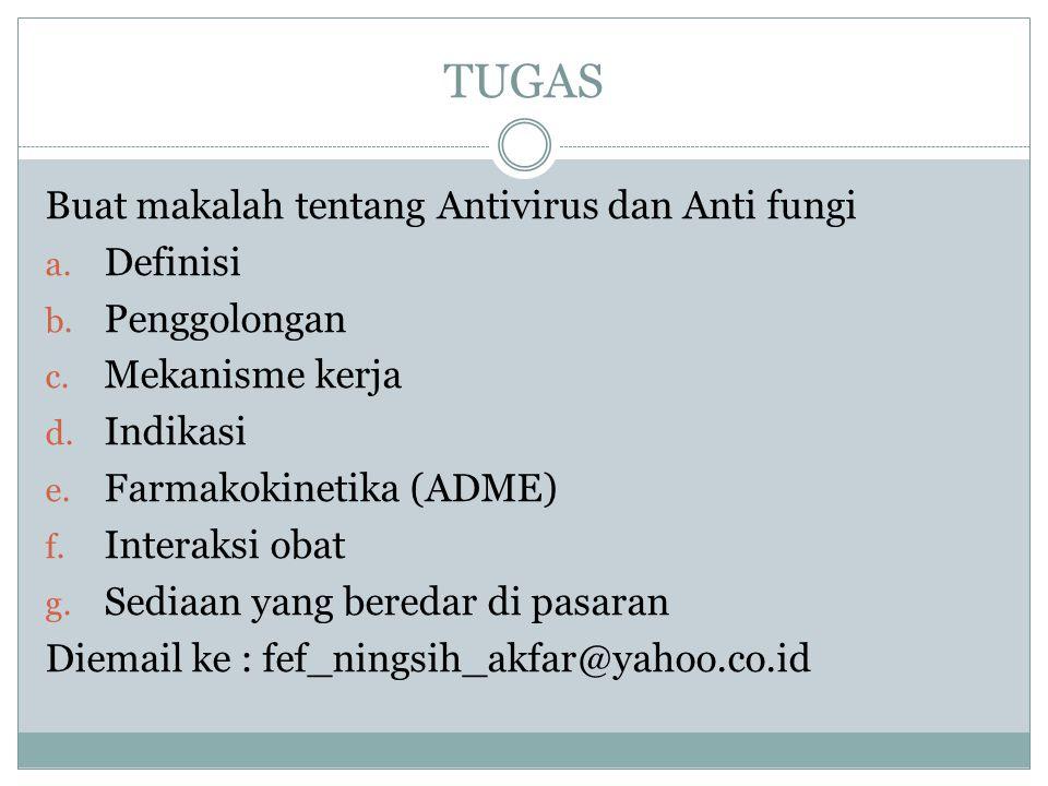 TUGAS Buat makalah tentang Antivirus dan Anti fungi Definisi