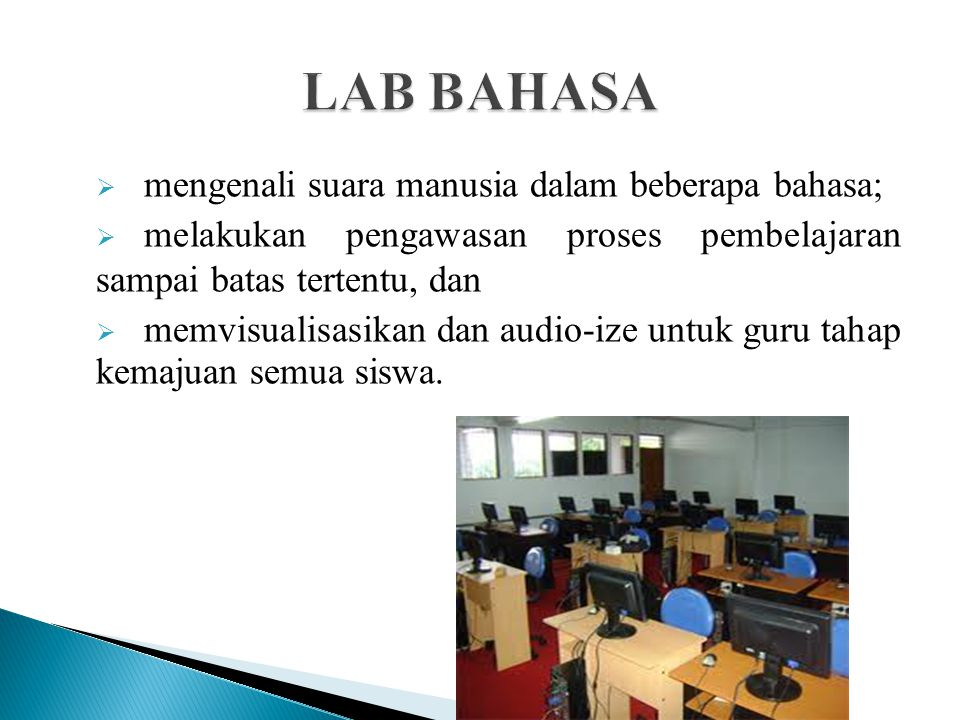 LAB BAHASA mengenali suara manusia dalam beberapa bahasa;