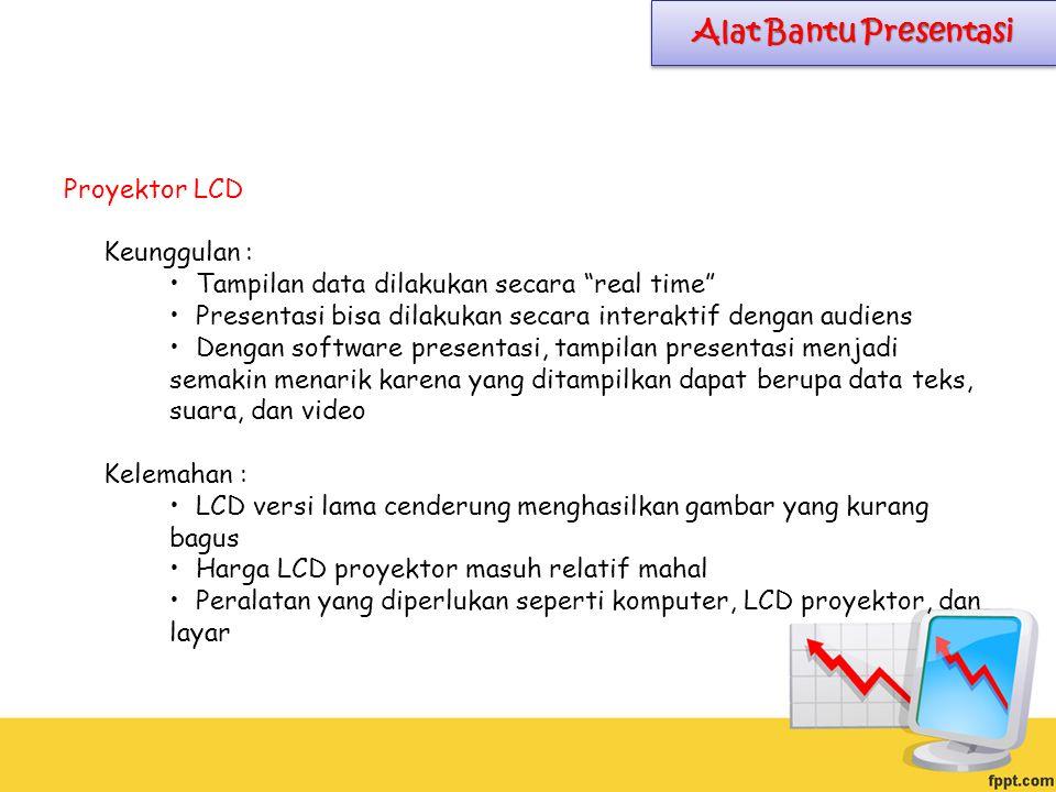 Alat Bantu Presentasi Proyektor LCD