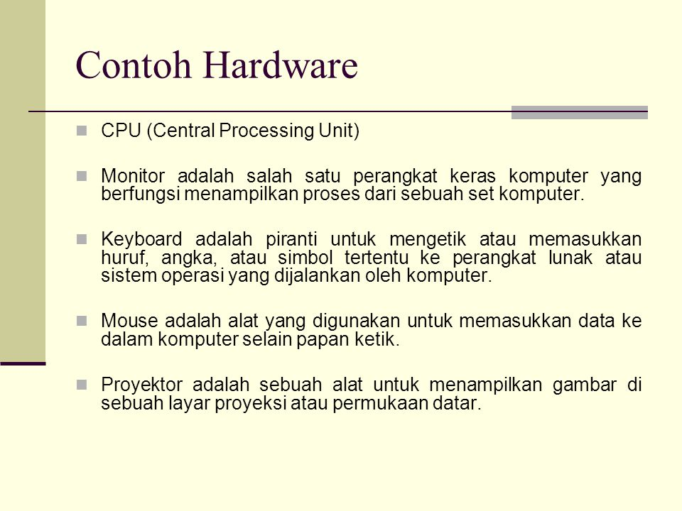 Contoh Hardware CPU (Central Processing Unit)