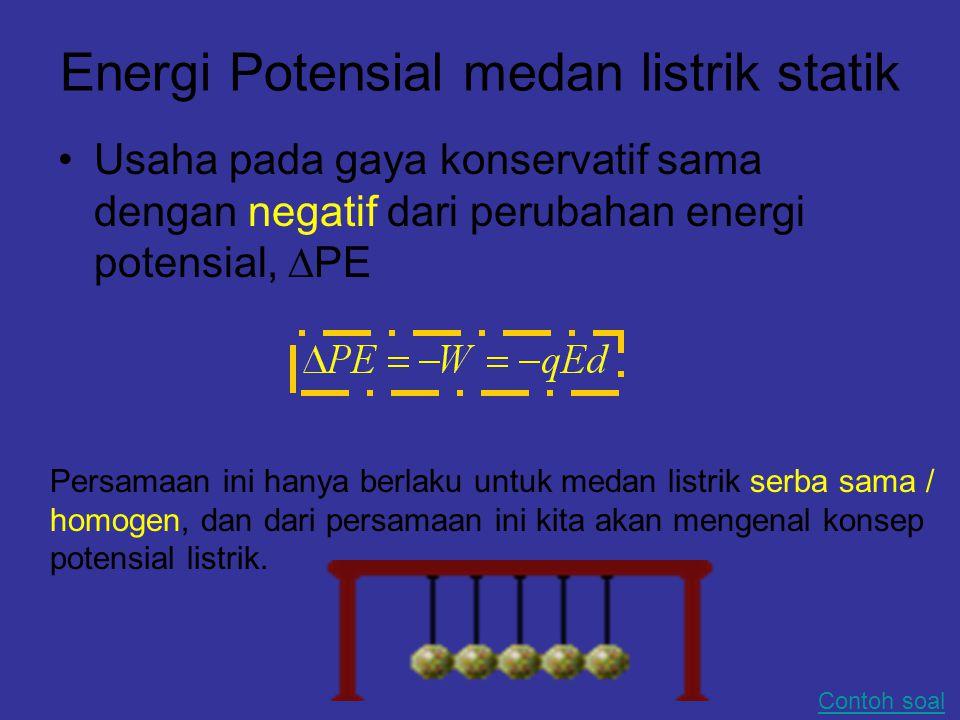 Energi Potensial medan listrik statik