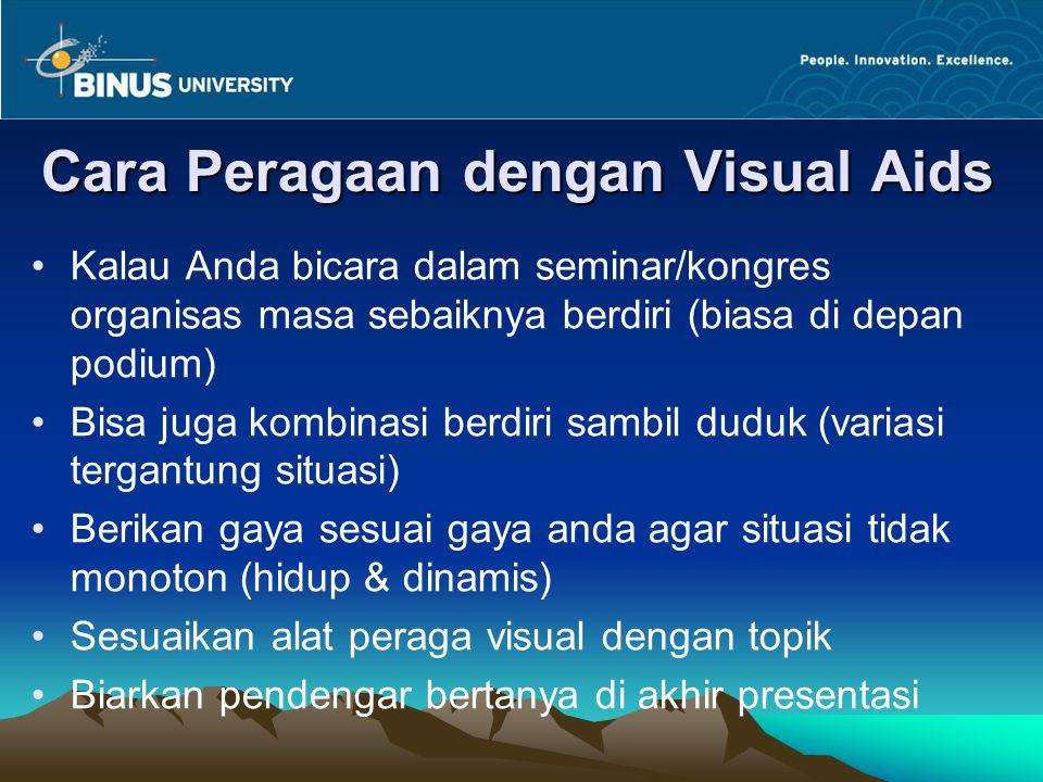 Cara Peragaan dengan Visual Aids