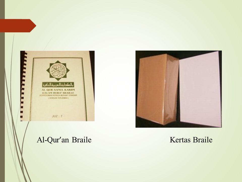 Al-Qur'an Braile Kertas Braile