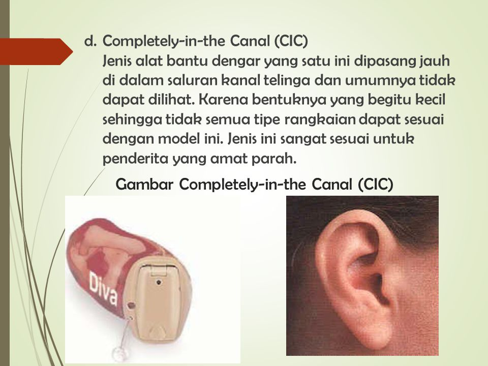 Gambar Completely-in-the Canal (CIC)