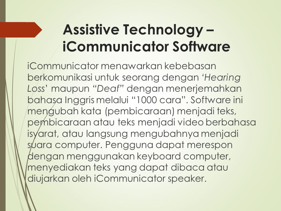 Assistive Technology – iCommunicator Software