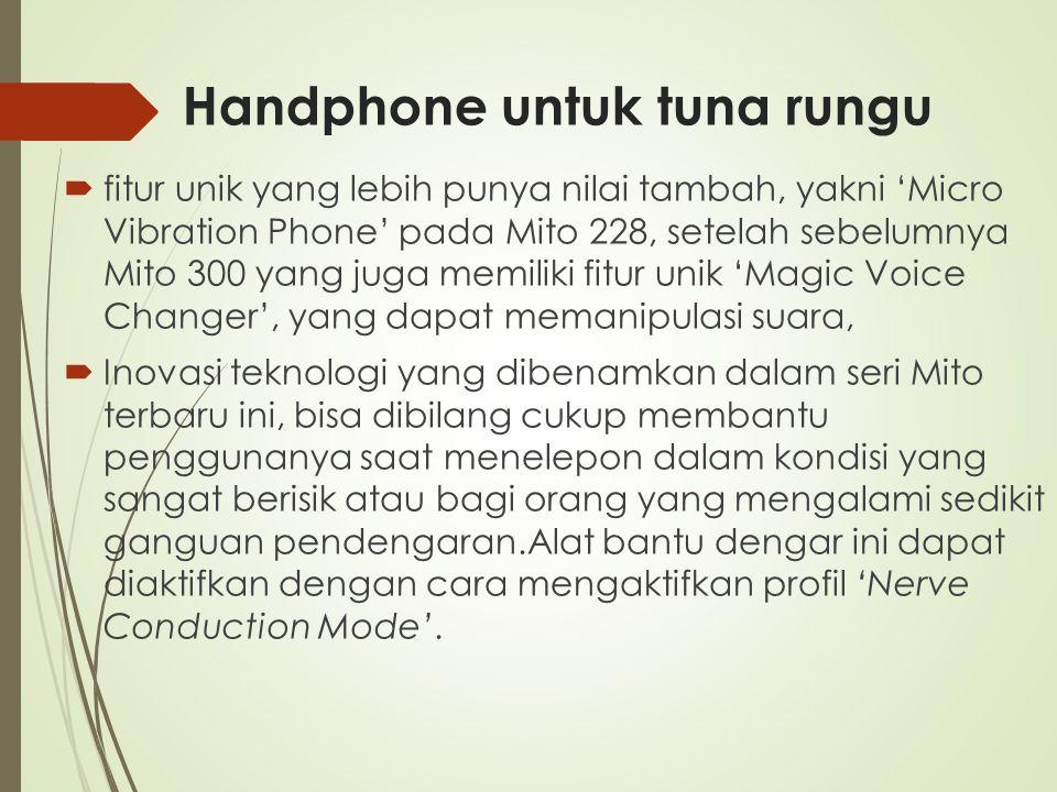 Handphone untuk tuna rungu