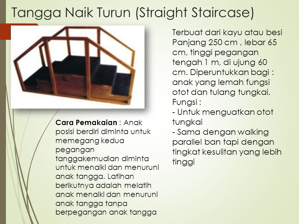 Tangga Naik Turun (Straight Staircase)