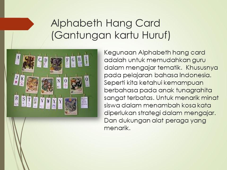 Alphabeth Hang Card (Gantungan kartu Huruf)