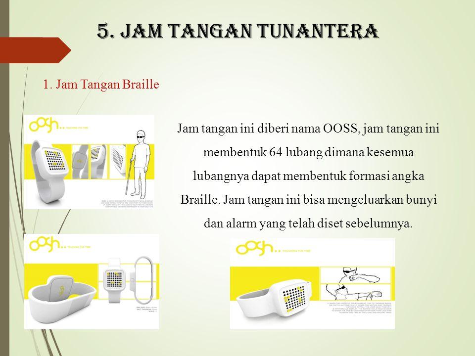 5. Jam tangan tunantera 1. Jam Tangan Braille