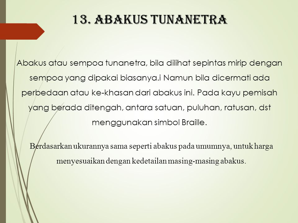 13. Abakus tunanetra