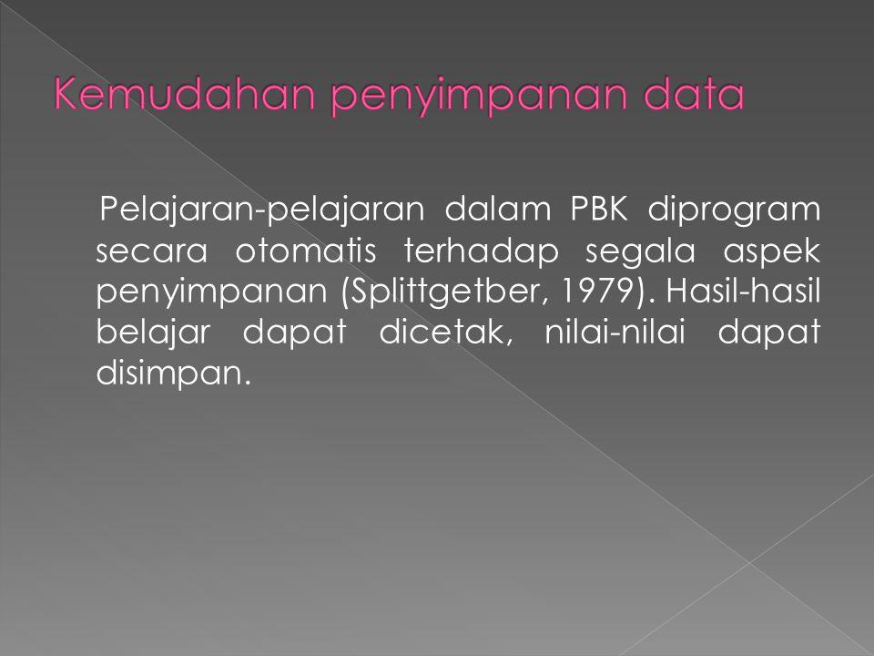 Kemudahan penyimpanan data