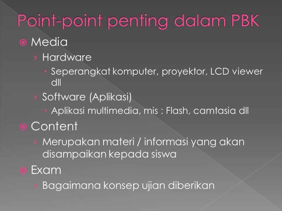Point-point penting dalam PBK